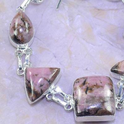 Rod 032b bracelet rhodonite achat vente bijou pierre lithotherapie argent 925 1