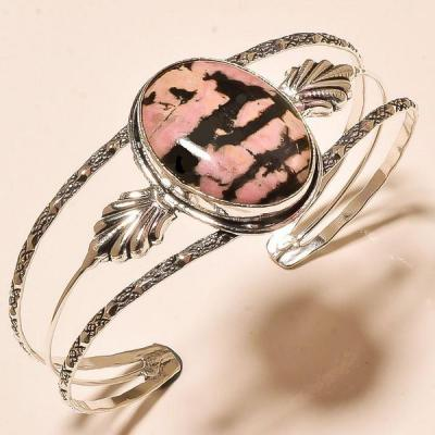 Rod 042a bracelet torque rhodonite achat vente bijou pierre lithotherapie argent 925 1 1