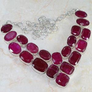 Ru 0040a collier rubis cachemire achat vente 1