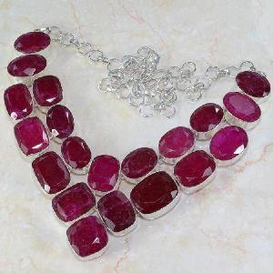 Ru 0040d collier rubis cachemire achat vente 1