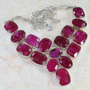 Ru 0042a collier parure rubis argent 925 achat vente