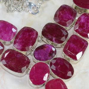 Ru 0042b collier parure rubis argent 925 achat vente