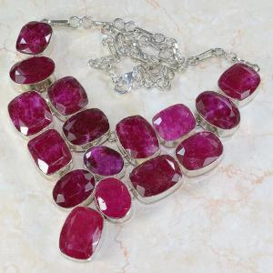 Ru 0042c collier parure rubis argent 925 achat vente