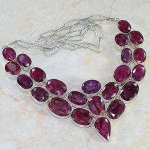 Ru 0043a collier parure rubis argent 925 achat vente