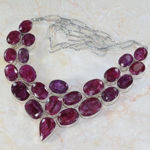 Ru 0043c collier parure rubis argent 925 achat vente