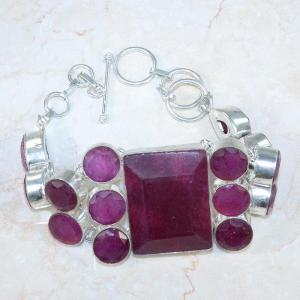Ru 0045b bracelet rubis argent 925 achat vente