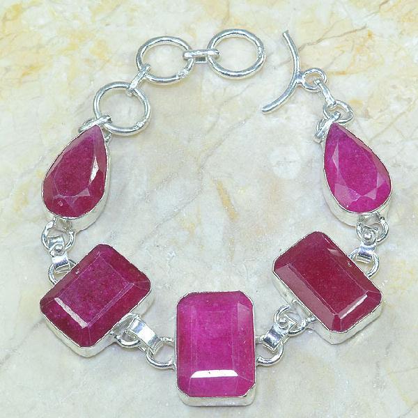 Ru 0317a bracelet rubis argent 925 achat vente