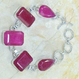 Ru 0317b bracelet rubis argent 925 achat vente