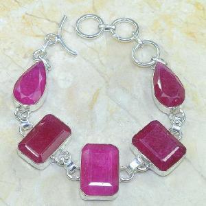 Ru 0317c bracelet rubis argent 925 achat vente