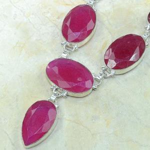 Ru 0318b collier parure sautoir rubis argent 925 achat vente