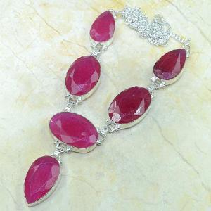 Ru 0318c collier parure sautoir rubis argent 925 achat vente