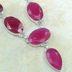 Ru 0318d collier parure sautoir rubis argent 925 achat vente