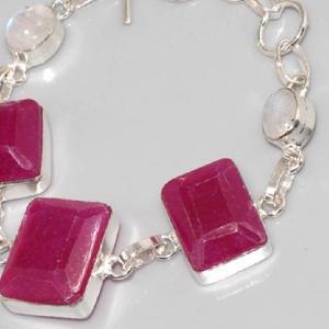 Ru 0322b bracelet rubis cachemire moonstone argent 925 achat vente