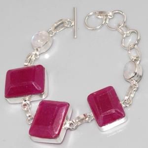 Ru 0322c bracelet rubis cachemire moonstone argent 925 achat vente