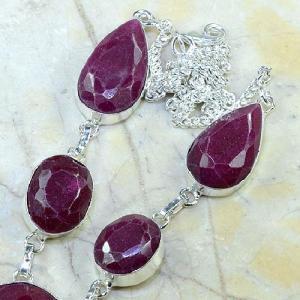 Ru 0325b collier parure sautoir rubis cachemire bijou argent 925 achat vente