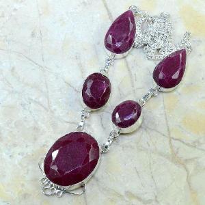 Ru 0325d collier parure sautoir rubis cachemire bijou argent 925 achat vente