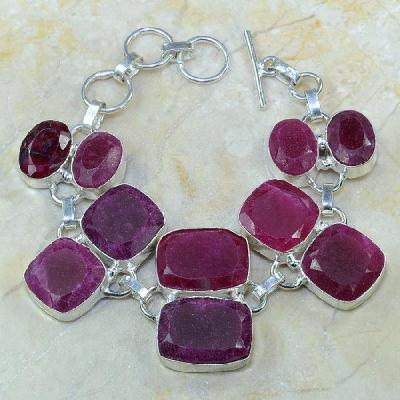 Ru 0327a bracelet rubis cachemire bijoux argent 925 achat vente