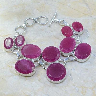Ru 0328a bracelet rubis cachemire bijou argent 925 achat vente
