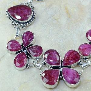 Ru 0329b bracelet porte bonheur trefle rubis cachemire bijou argent 925 achat vente