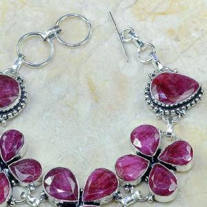 Ru 0329c bracelet porte bonheur trefle rubis cachemire bijou argent 925 achat vente