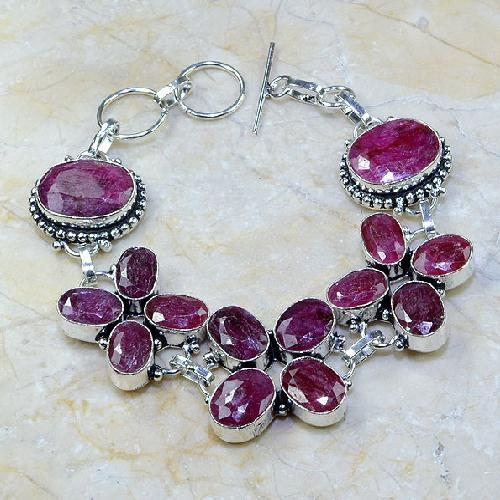 Ru 0330a bracelet rubis cachemire argent 925 achat vente