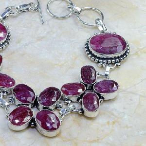 Ru 0330b bracelet rubis cachemire argent 925 achat vente