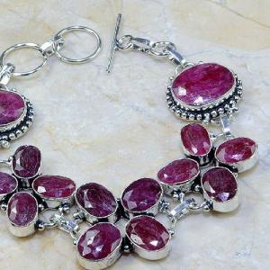 Ru 0330c bracelet rubis cachemire argent 925 achat vente