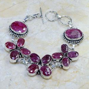 Ru 0330d bracelet rubis cachemire argent 925 achat vente