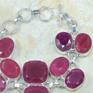 Ru 0333c bracelet rubis cachemire argent 925 achat vente