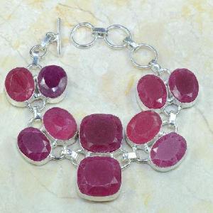 Ru 0333d bracelet rubis cachemire argent 925 achat vente