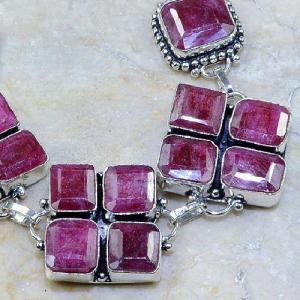 Ru 0334b bracelet rubis cachemire argent 925 achat vente bijoux