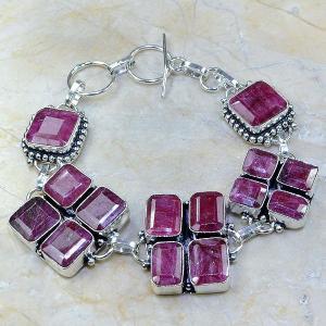 Ru 0334c bracelet rubis cachemire argent 925 achat vente bijoux