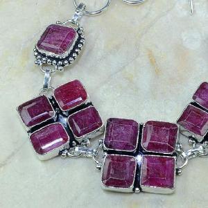 Ru 0334d bracelet rubis cachemire argent 925 achat vente bijoux