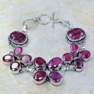Ru 0335a bracelet rubis cachemire bijoux argent 925 achat vente