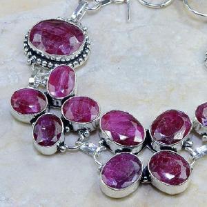 Ru 0335b bracelet rubis cachemire bijoux argent 925 achat vente