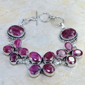 Ru 0335d bracelet rubis cachemire bijoux argent 925 achat vente