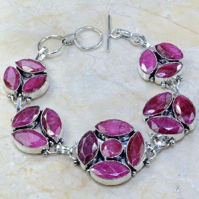 Ru 0336a bracelet rubis cachemire bijoux argent 925 achat vente