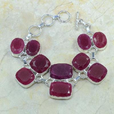 Ru 0337a bracelet rubis cachemire argent 925 achat vente bijou