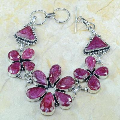 Ru 0345a bracelet rubis cachemire argent 925 achat vente bijou