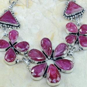 Ru 0345c bracelet rubis cachemire argent 925 achat vente bijou