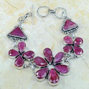 Ru 0345d bracelet rubis cachemire argent 925 achat vente bijou