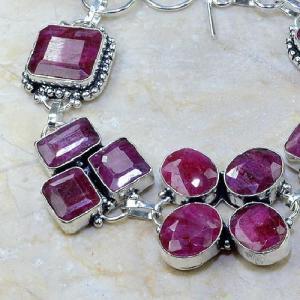 Ru 0346b bracelet rubis cachemire argent 925 achat vente bijou