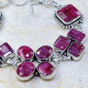 Ru 0346c bracelet rubis cachemire argent 925 achat vente bijou