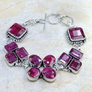 Ru 0346d bracelet rubis cachemire argent 925 achat vente bijou