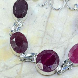 Ru 0348b bracelet rubis cachemire argent 925 achat vente bijou