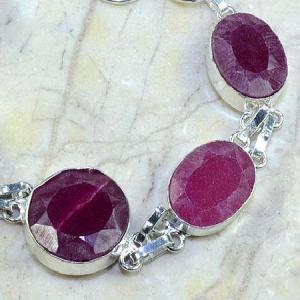 Ru 0348c bracelet rubis cachemire argent 925 achat vente bijou