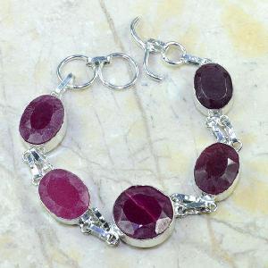 Ru 0348d bracelet rubis cachemire argent 925 achat vente bijou