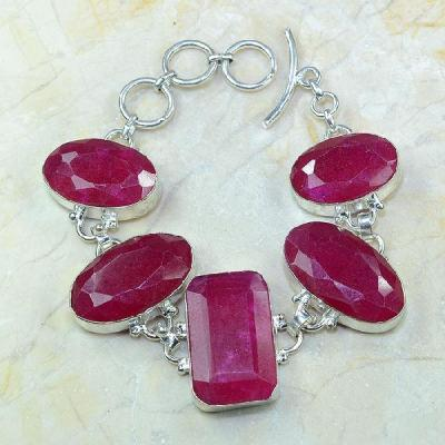 Ru 0349a bracelet rubis cachemire argent 925 achat vente bijou
