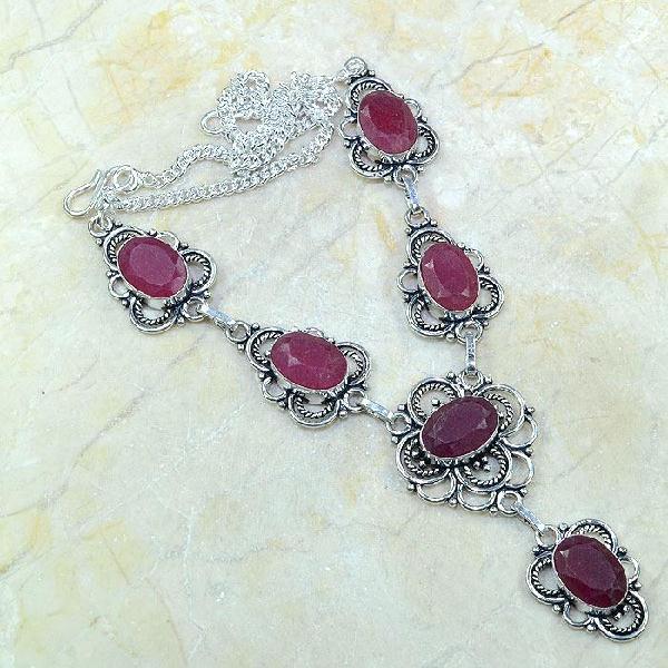 Ru 0351a collier parure sautoir rubis cachemire bijou argent 925 achat vente