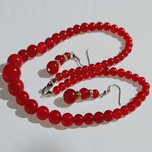 Ru 0385a collier parure sautoir boucles oreilles rubis argent 925 achat vente 2